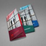 Tri-Fold Corporate Brochure Template (3 Colors)