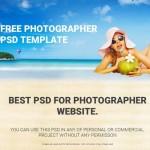 Photographer Web Template PSD