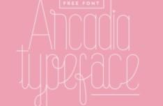 Arcadia Typeface Vector