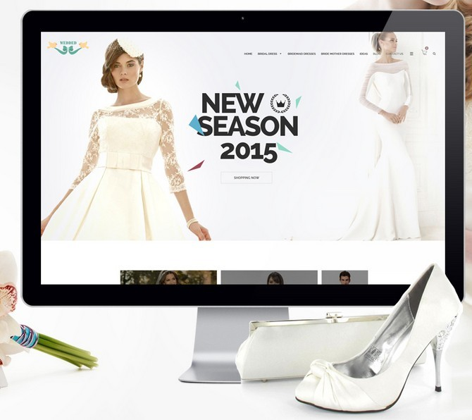 Free Fashion Wedding Dresses Website Template Psd Titanui