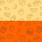 Seamless Food  Icon Photo Patterns