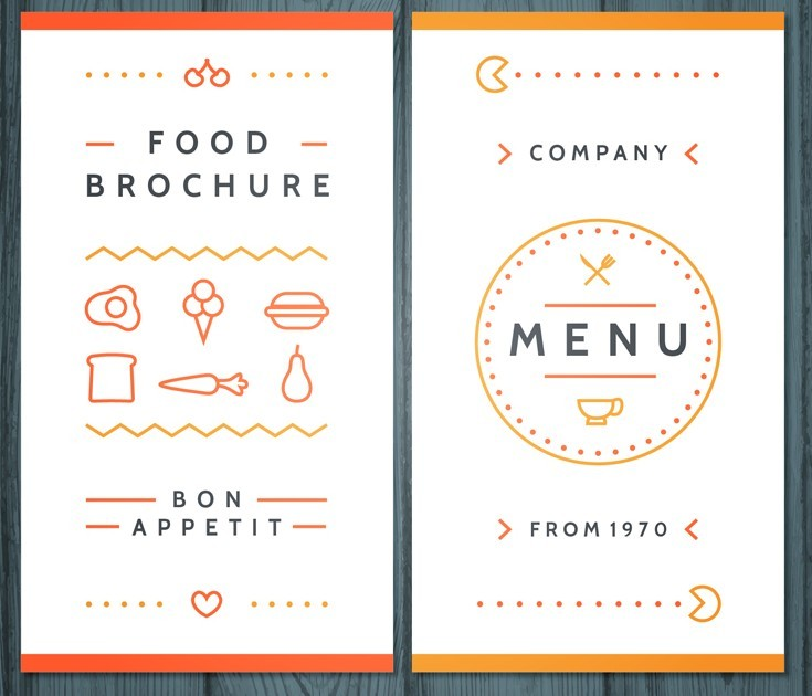 Free creative food brochure template vector titanui for Free food brochure templates