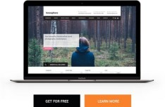 Highdax One Page Website Template PSD