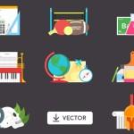 8 Vector School Illustrations