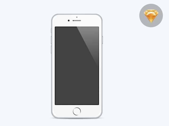 iphone 6 template free minimal flat iphone 6 template for sketch titanui 11428