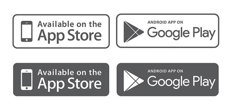 free app store amp google play badges vector titanui