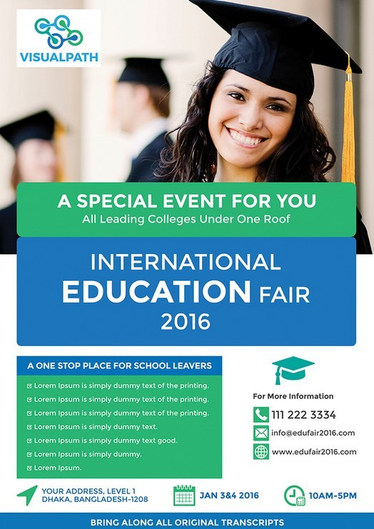 Free education flyer template psd titanui for Education flyer templates