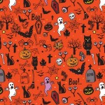 Vector Happy Halloween Pattern