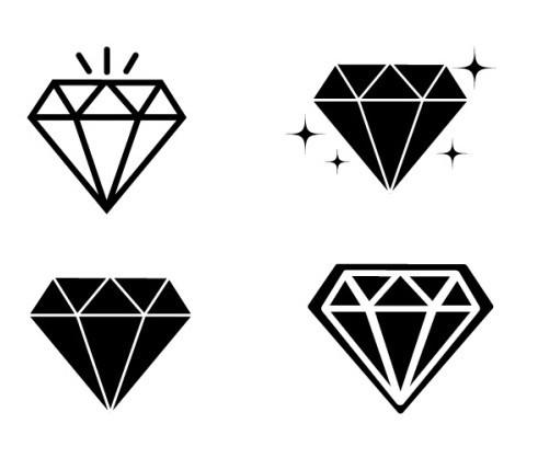 free minimal diamond icons titanui