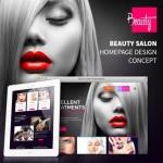 BEAUTY Modern Salon Web Template PSD