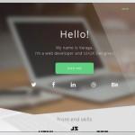 Varaga Modern Landing Page PSD Template