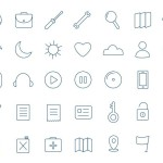 35 Random Line Icons Vector