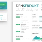 Clean Creative Resume & Business Card Templates PSD