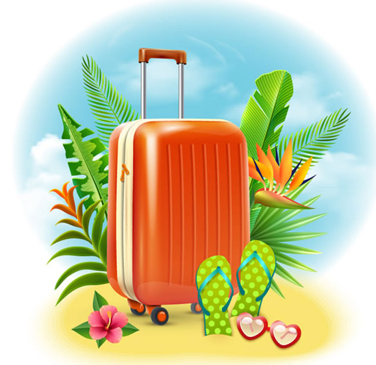 Free Summer Holiday Suitcase Vector Titanui