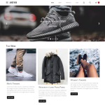 Justice Online Store Web Template PSD