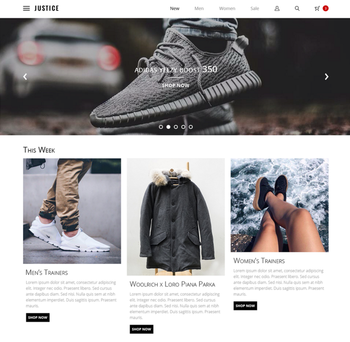 Justice clothing store application online