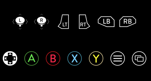 Symbols Of Cars >> Free Xbox One Controller Buttons PSD - TitanUI