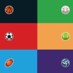 7 Minimal Sports Icons Vector
