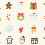 15 Christmas Vector Icons (AI, SVG, CSH)