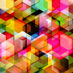 Colorful 3D Triangles Background Vector