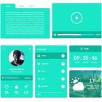 Umbrella Flat Green UI/UX Pack