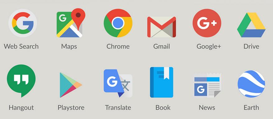 Free Google Product Logos Icons Vector Titanui