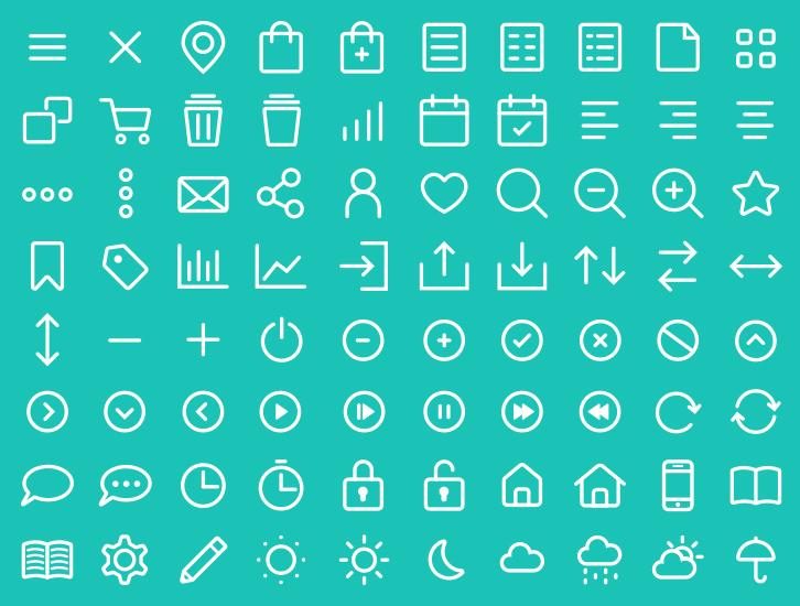 Free 80 UI / UX Line Icons Vector - TitanUI