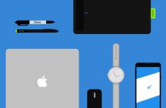 Flat Design Objects PSD