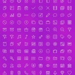 Multi-purpose Line Icons Set Vector