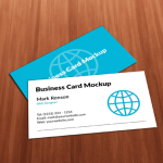 Blue & White Business Card Templates PSD