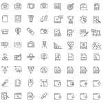 64 Outline Icons Vector