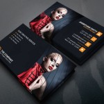 Dark Fashion Business Card Template PSD