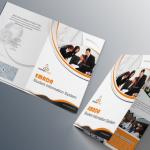 Orange Business Tri-fold Brochure Template PSD