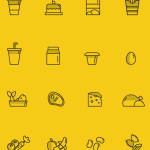 24 Food Icons Vector
