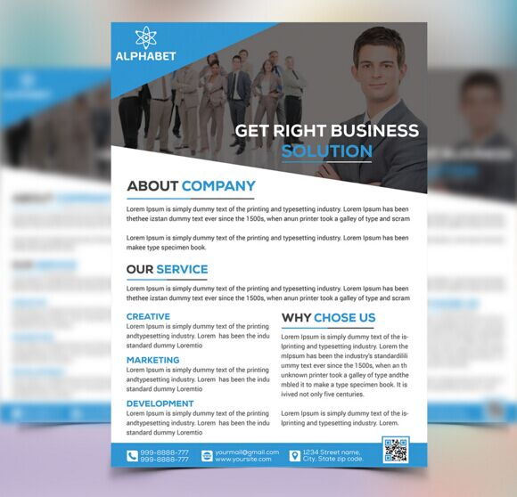 Free 3 Corporate Business Flyer Templates PSD TitanUI – Business Flyer Templates