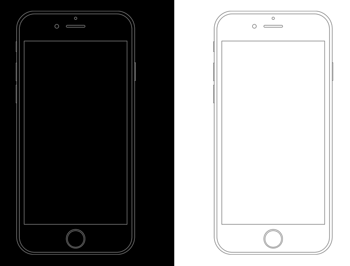 free minimal apple iphone 6s wireframe templates psd
