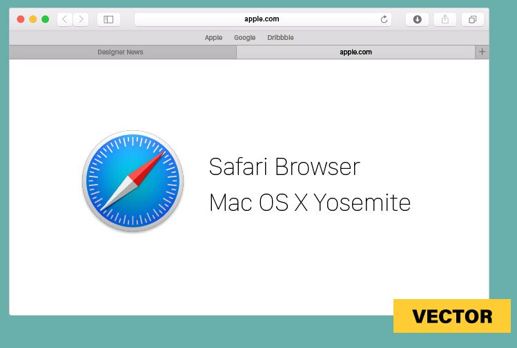 Free safari for mac os x vector template titanui for Raumgestaltung mac os x