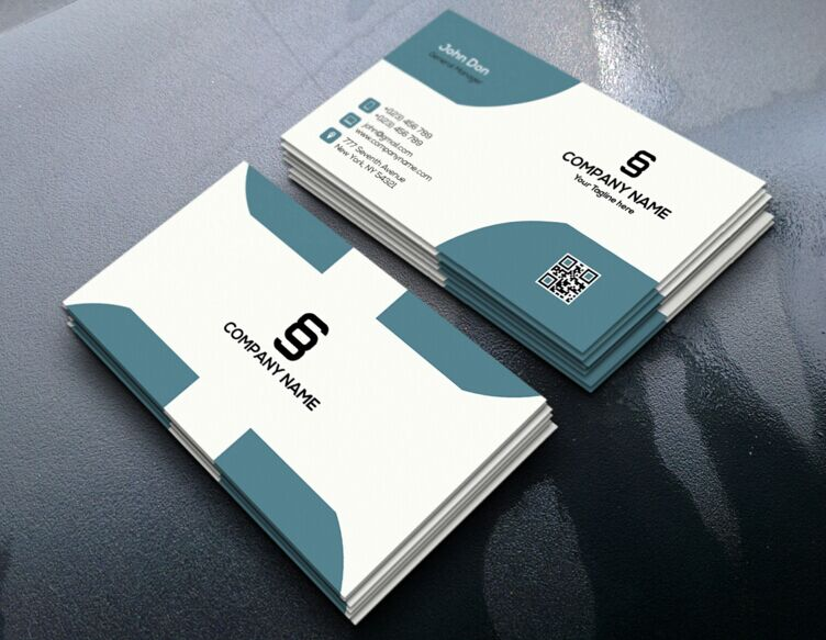 Free realistic corporate business card design psd titanui for Best business card designs 2016