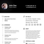 Simple Clean A4 Resume / CV Template Vector
