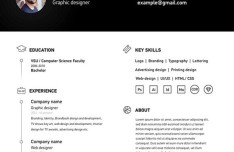 Simple Clean A4 Resume CV Template PSD