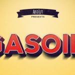 Gasoil Text Effect PSD