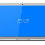 Flat Macbook Air Vector Template PSD