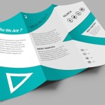 Clean Corporate Tri-fold Brochure PSD Mockup