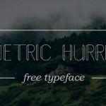 Geometric Hurricane Font