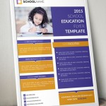 Standing Education Flyer Template PSD