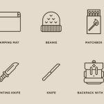 40 Camping Line Icons Vector