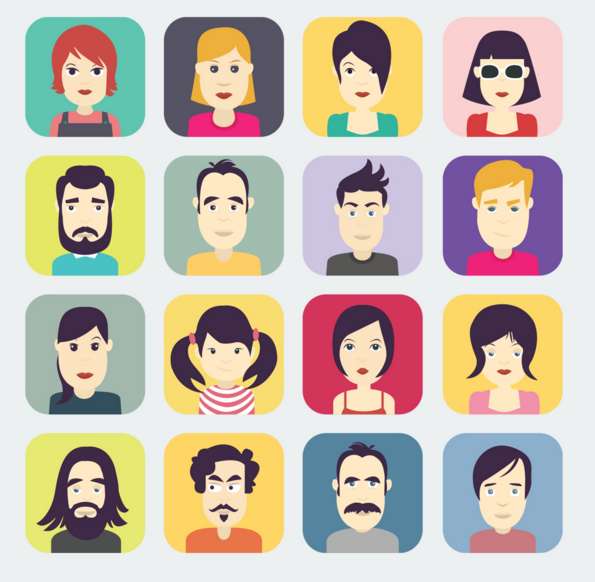 Free Flat Rounded Avatar Icon Set Titanui