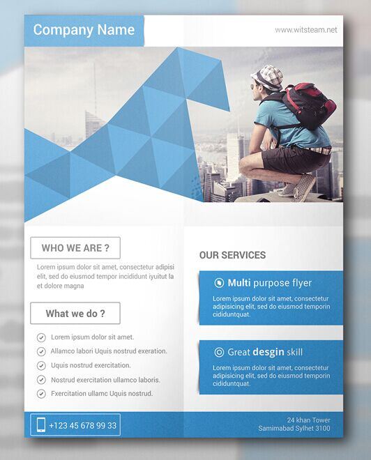 Free modern creative flyer template psd titanui for Modern flyers template
