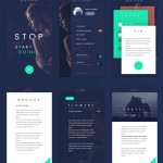 Deep Blue Flat Mobile UI Kit