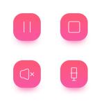 8 Slim Music Icons (AI+PNG+SVG)